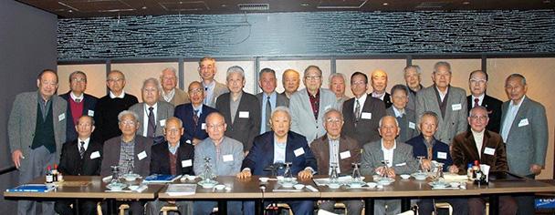 昭和33年卒工学部第一部第二部電気工学科、第一部電気通信工学科合同クラス会