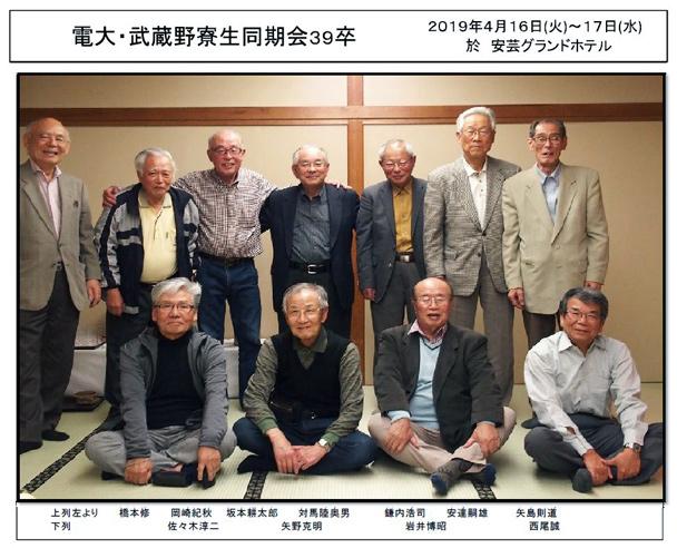 第5回武蔵野寮生同期会(昭和39年卒)