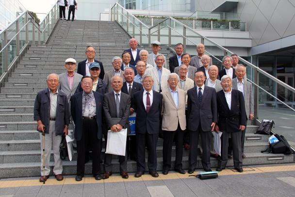 昭和36年卒工学部第一部電気工学科、電気通信工学科、電子工学科合同クラス会(山麓会)