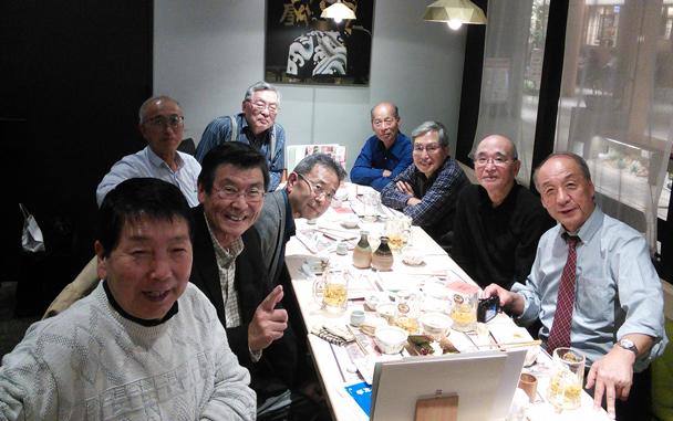 昭和44年卒工学部第一部応用理化学科クラス会大学